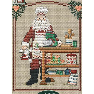 Sue Hillis Stickvorlage Cookie Santa