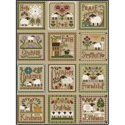 Little Sheep Virtues komplette Serie - 12 Vorlagen - Little House Needleworks