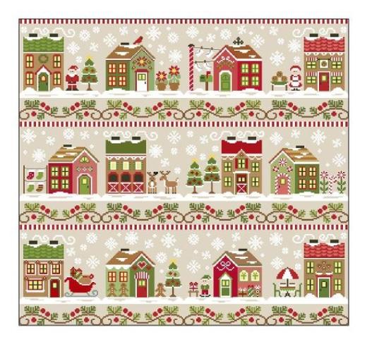 Santas Village komplette Serie - 12 Stickvorlagen Country Cottage Needleworks
