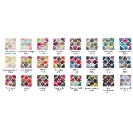 DMC Coloris Verlaufsgarn - Stickgarnsortiment 24 Farben 4500 - 4523