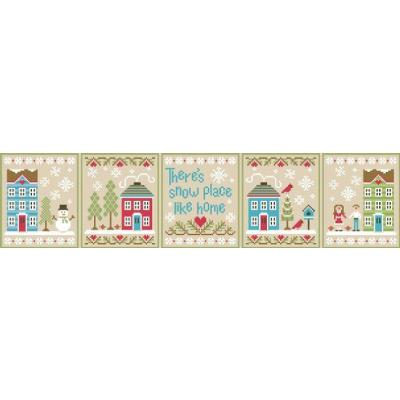 Kreuzstichvorlage Country Cottage Needleworks - 5 Vorlagen Snow Place Like Home