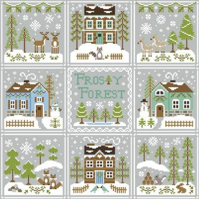 Kreuzstichvorlage Country Cottage Needleworks - 9 Vorlagen Frosty Forest