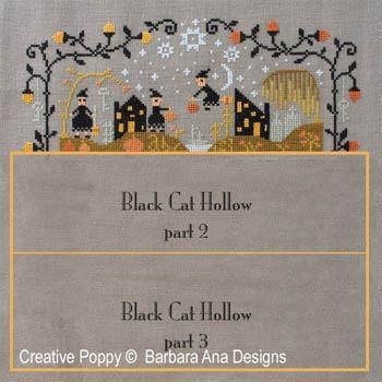 Barbara Ana Stickvorlage Black Cat Hollow Teil 1