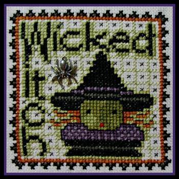 Kreuzstichvorlage Hinzeit - Word Play Wicked Witch