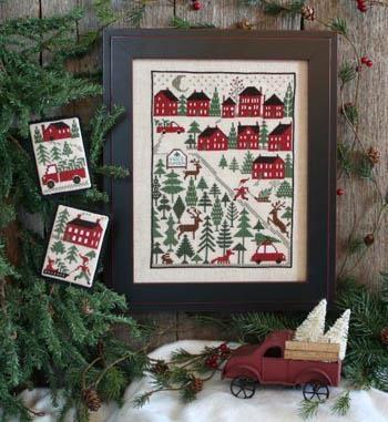 Kreuzstichvorlage Prairie Schooler - Christmas Tree Farm