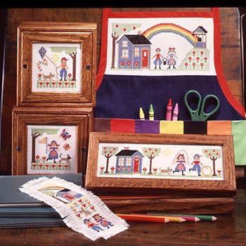 Kreuzstichvorlage Prairie Schooler - Schooler Kids