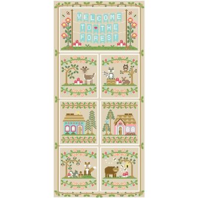 Stickvorlagen Country Cottage Needleworks Serie Welcome To The Forest 7 Stck