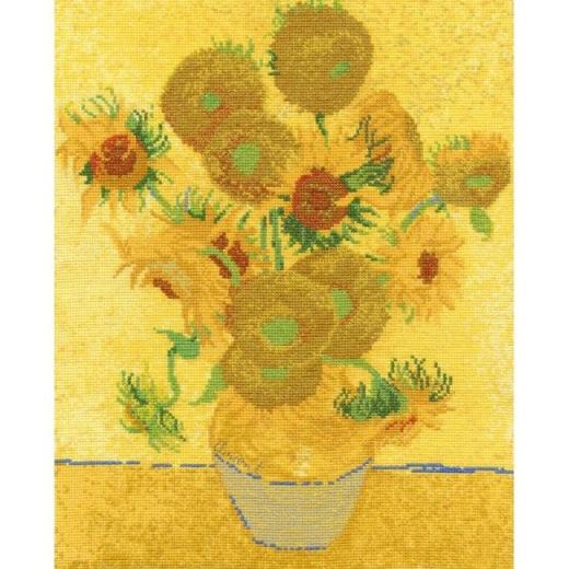 Stickpackung DMC Kreuzstich - Sonnenblumen van Gogh