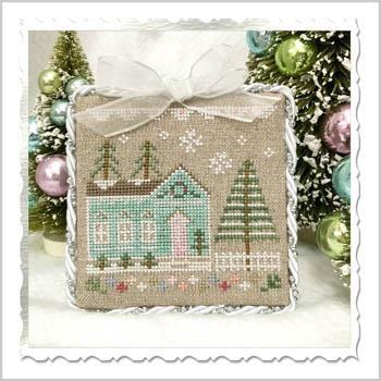 Country Cottage Needleworks Stickvorlage Glitter Village Glitter House 7