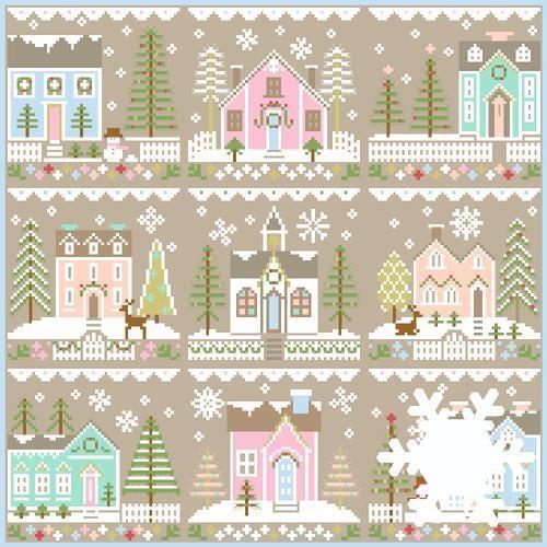 Country Cottage Needleworks 9 Stickvorlagen Serie Glitter Village