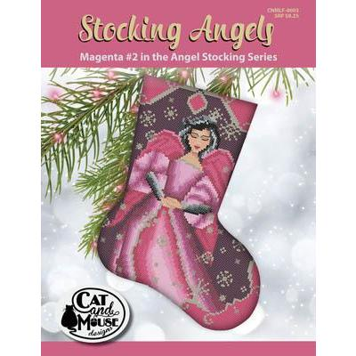 Kreuzstichvorlage Cat and Mouse Designs - Stocking Angel 2 Magenta In The Angel