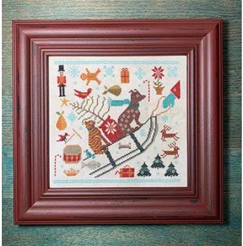 Carriage House Samplings Stickvorlage Bringing Christmas
