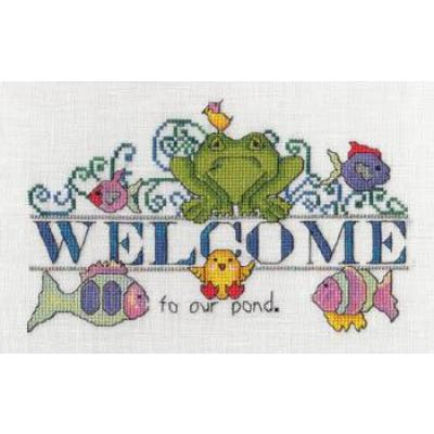 Stickvorlagen MarNic Designs Welcome To Our Pond