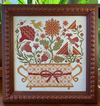 Carriage House Samplings Stickvorlage Blooming Basket