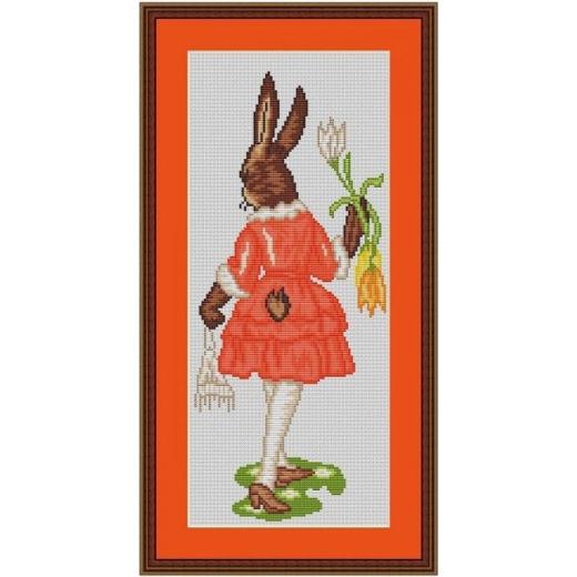 Kreuzstich-Insider Stickvorlage Hasenmädchen