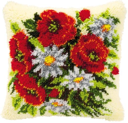 Vervaco Knüpfpackung PN-0014142 Blumenstrauß 40x40