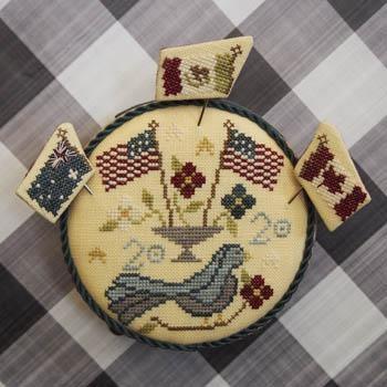 Bendy Stitchy Designs Stickvorlage Patriotic Pinkeep