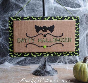 Annalee Waite Designs Stickvorlage Batty Halloween