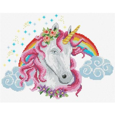 Needleart World Stickpackung 440-104 Regenbogeneinhorn 26,1x20