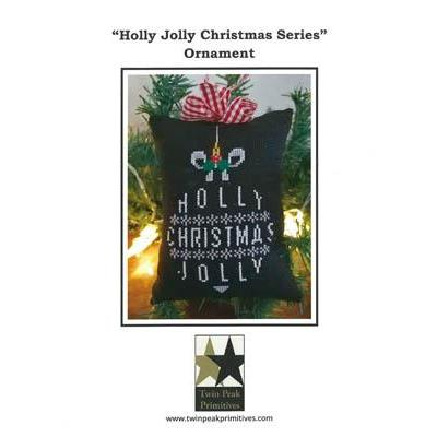 Twin Peak Primitives Stickvorlage Holly Jolly Christmas Ornament