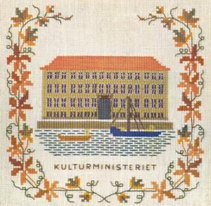Stickpackung Haandarbejdets Fremme 17-5135,3 Kultusministerium Kopenhagen 15x15