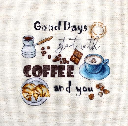 Stickpackung Leti Stitch 927 Coffee Time 15x14