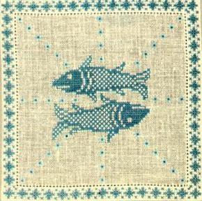 Stickpackung Haandarbejdets Fremme 17-2240,03 Sernzeichen Fisch 15x15