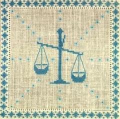 Stickpackung Haandarbejdets Fremme 17-2240,10 Sternzeichen Waage 15x15