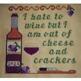 Stickvorlage Sister Lou Stitches Cheese & Crackers