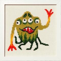 Stickpackung Haandarbejdets Fremme 30-6943,04 Grünes Monster 23x23