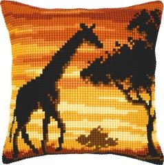 Kreuzstichkissen Vervaco PN-0008642 Giraffe 40x40