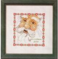 Stickpackung Oehlenschläger Kreuzstich 02130 - Weihnachtsmanngesicht
