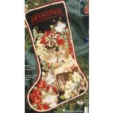 Vermillion Stickvorlage Christmas Cats Stocking