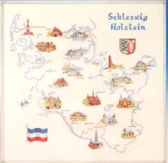 Oehlenschläger Stickpackung 09816 Landkarte Schleswig-Holstein 70x70