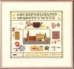Oehlenschläger Stickpackung 65181 Sampler Küche 33x35