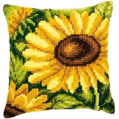Kreuzstichkissen Vervaco PN-0008620 Sonnenblumen 40x40