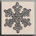 Mill Hill Treasures 12037 Medium Snowflake Crystal Bright