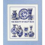 Sampler Delft Blue - Stickpackung Permin of Copenhagen