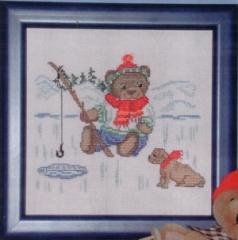Stickpackung Oehlenschläger Kreuzstich 12108 - Teddy am Eisloch