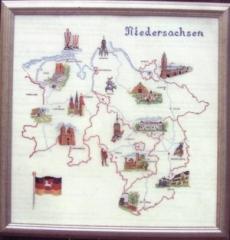 Oehlenschläger Stickpackung 33001 Landkarte Niedersachsen 70x70
