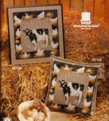 Stickpackung Kreuzstich Oehlenschläger 65158 - Kuh und Hühner