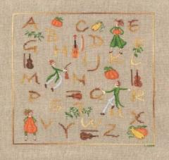 Alphabet Melonen - Stickpackung Bonheur des Dames