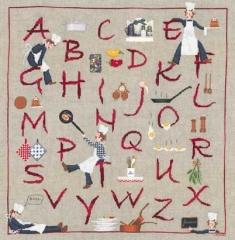 Küchen-Alphabet - Stickpackung Bonheur des Dames
