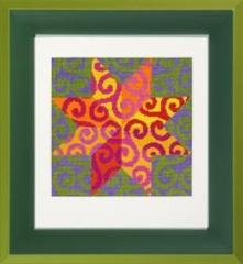 Spiralenstern - Stickvorlage Der feine Faden