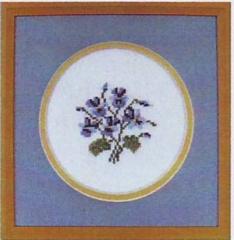 Oehlenschläger Stickpackung 70112 Blaue Veilchen 10x10