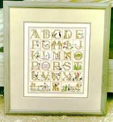 Kreuzstichvorlage Lynns Print/Diane Graebner - Amish Alphabet