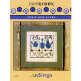 Bent Creek Stickvorlage July Sings mit Charms