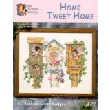 Jeanette Crews Designs Stickvorlage Home Tweet Home