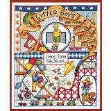 Bobbie G. Designs Stickvorlage Little Boys Are Made Of
