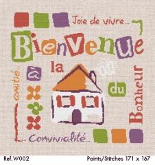 La Maison du Bonheur - Stickvorlage Lilipoints